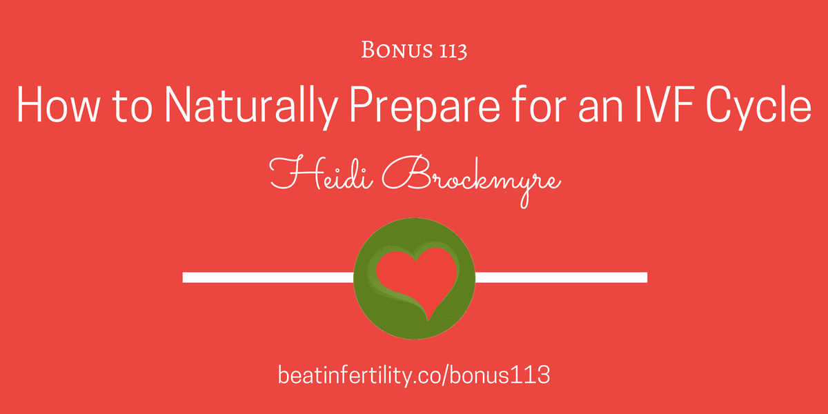 BONUS 113: How to Naturally Prepare for an IVF Cycle
