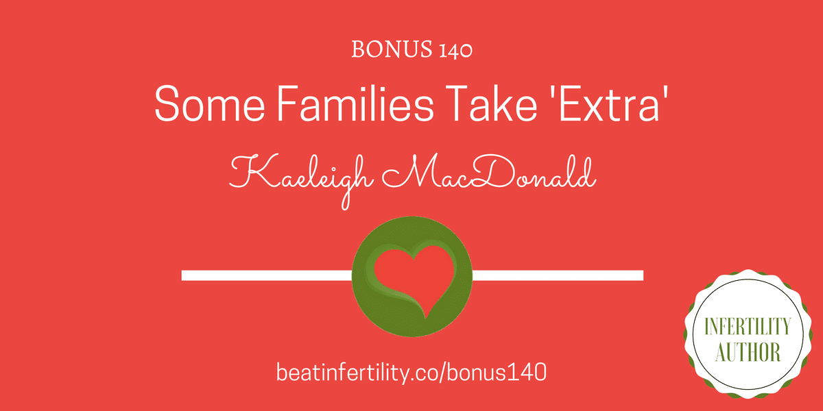 BONUS 140: Some Families Take 'Extra' [INFERTILITY AUTHOR]