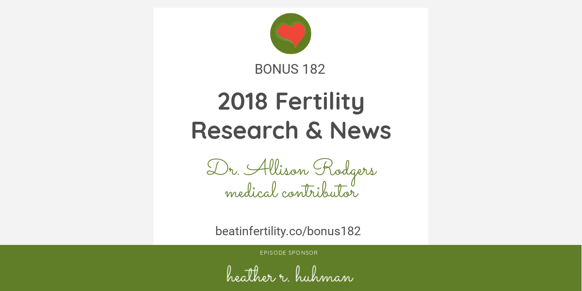 BONUS 182: 2018 Fertility Research & News